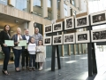 The Winners - Judy Boyle, Frank Condra, Deirdre Watson, Vadim Lee with Leon and Zara Lee pictured with Drogheda's monochrome panel