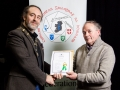 IPF President Michael O'Sullivan pictured presenting LIPF distinction to James Costello