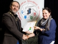 IPF President Michael O'Sullivan pictured presenting LIPF distinction to Michelle Hughes Walsh