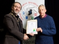 IPF President Michael O'Sullivan pictured presenting LIPF distinction to Paul Crockett
