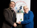 IPF President Michael O'Sullivan pictured presenting LIPF distinction to R. Michael Smith