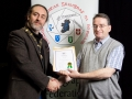 IPF President Michael O'Sullivan pictured presenting LIPF distinction to Sean Ganly