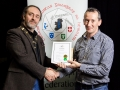 IPF President Michael O'Sullivan pictured presenting LIPF distinction to Terry McSweeney