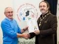IPF President Michael O'Sullivan pictured presenting AIPF distinction to Gordon Adamson