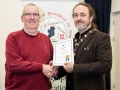 IPF President Michael O'Sullivan pictured presenting AIPF distinction to Kieran Casey