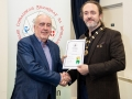 IPF President Michael O'Sullivan pictured presenting LIPF distinction to Eamonn Lawless