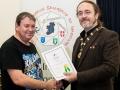 IPF President Michael O'Sullivan pictured presenting LIPF distinction to John Burke