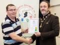 IPF President Michael O'Sullivan pictured presenting LIPF distinction to John Carey