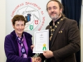 IPF President Michael O'Sullivan pictured presenting LIPF distinction to Marian Heavey