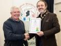 IPF President Michael O'Sullivan pictured presenting LIPF distinction to Martin Dorgan
