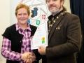 IPF President Michael O'Sullivan pictured presenting LIPF distinction to Mary Kinsella