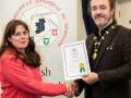 IPF President Michael O'Sullivan pictured presenting LIPF distinction to Olivia Fortune