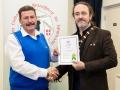 IPF President Michael O'Sullivan pictured presenting LIPF distinction to Sean Kenny