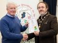 IPF President Michael O'Sullivan pictured presenting LIPF distinction to Tom Ormond