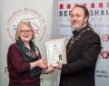 IPF President Michael O'Sullivan presenting licentiateship distinction to Elizabeth O'Connell