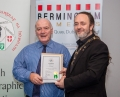 IPF President Michael O'Sullivan presenting licentiateship distinction to Jim McSweeney