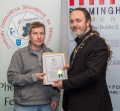 IPF President Michael O'Sullivan presenting licentiateship distinction to Anthony Lomas