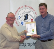 IPF Distinctions Chairman pictured presenting LIPF distinction to Paul Marry
