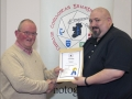 IPF Distinctions Chairman pictured presenting AIPF distinction to Niall Brownen
