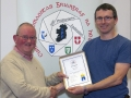 IPF Distinctions Chairman pictured presenting AIPF distinction to Niall Whelan