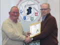 IPF Distinctions Chairman pictured presenting LIPF distinction to Anthony Byrne