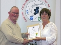 IPF Distinctions Chairman pictured presenting LIPF distinction to Caitriona Whyte