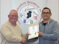 IPF Distinctions Chairman pictured presenting LIPF distinction to David Triglia
