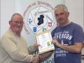 IPF Distinctions Chairman pictured presenting LIPF distinction to Ken Collins