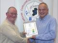 IPF Distinctions Chairman pictured presenting LIPF distinction to Ken Dobson