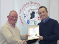 IPF Distinctions Chairman pictured presenting LIPF distinction to Michael Reen