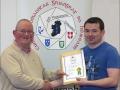 IPF Distinctions Chairman pictured presenting LIPF distinction to Philip O'Rourke