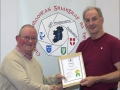 IPF Distinctions Chairman pictured presenting LIPF distinction to Ronald Kilkenny