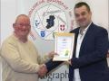 IPF Distinctions Chairman pictured presenting LIPF distinction to William Strain