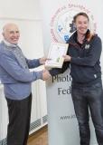 IPF Vice President Sheamus O'Donoghue presenting licentiateship distinction to Darren J. Spoonley