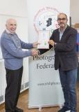 IPF Vice President Sheamus O'Donoghue presenting licentiateship distinction to Joe Carberry