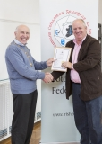 IPF Vice President Sheamus O'Donoghue presenting licentiateship distinction to Michael Cusack