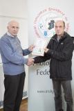IPF Vice President Sheamus O'Donoghue presenting licentiateship distinction to Paul Gaffey
