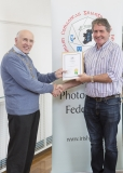 IPF Vice President Sheamus O'Donoghue presenting licentiateship distinction to Tom Coniffe