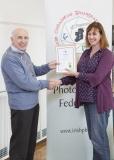 IPF Vice President Sheamus O'Donoghue presenting licentiateship distinction to Judith Kimber