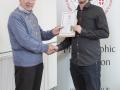 IPF Vice President Sheamus O'Donoghue presenting licentiateship distinction to Brian McDonald