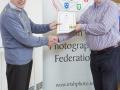 IPF Vice President Sheamus O'Donoghue presenting licentiateship distinction to Tom Cunningham