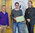 IPF President Michael O'Sullivan & IPF FIAP Liaison Officer Paul Stanley presenting AFIAP distinction to Graham Cashell.jpg