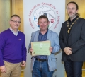 IPF President Michael O'Sullivan & IPF FIAP Liaison Officer Paul Stanley presenting AFIAP distinction to Teddy Sugrue.jpg