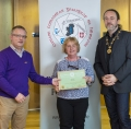 IPF President Michael O'Sullivan & IPF FIAP Liaison Officer Paul Stanley presenting AFIAP distinction to Vivien Buckley.jpg