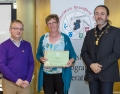 IPF President Michael O'Sullivan & IPF FIAP Liaison Officer Paul Stanley presenting EFIAP distinction to Catherine Bushe.jpg