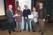 Sheamus O'Donoghue presenting Enniscorthy Camera Club with the Andorra Trophy for the Best Club entry