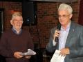 Brendan O'Sullivan making a presentation to Keith Leedham, judge of IPF AV 2016