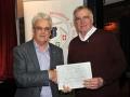 Brendan O'Sullivan presenting Raymond Hughes with runner up certificate in 3 way AV battle