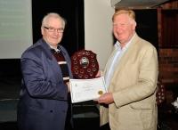 Ken Hemmingway presents the Humourous Trophy to Liam Haines, AV2014.