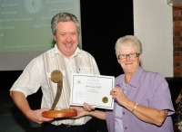 Alan Lyons, AIPF, winner of Best Sound Production, AV2014 with Lilian Webb, AIPF, Vice President, IPF.